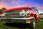 Red muscle car — Stock Photo