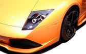 Sarı spor araba — Stok fotoğraf