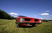 červené auto svalů — Stock fotografie