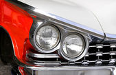 Head Lamps Of A Classic Car — Stock Photo