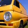 Yellow classic van — Stock Photo