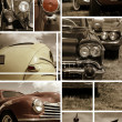 Classic car collage — Stock Photo