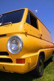 Yellow classic van — Stock Photo
