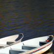 Stock Photo: Two boats on lake