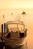 Boat In The Early Morning Sun Light — Stock Photo