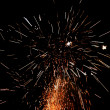 Large festive fireworks — Stock Photo