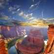 Stock Photo: Horse shoe bend