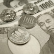 Japanese currency - Stock Photo