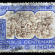Census Centenary stamp — Stock Photo