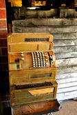 Vintage Cash Machine — Stock Photo