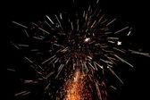Large festive fireworks — Stock Photo