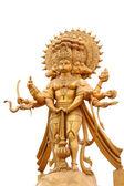 Estátua dourada de hanuman enfrentou cinco — Foto Stock