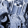 Stock Photo: Cut section of auto engine