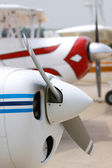 Propellers of charter flights — Stock Photo