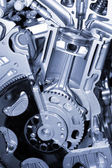 Cut section of auto engine — Stock Photo