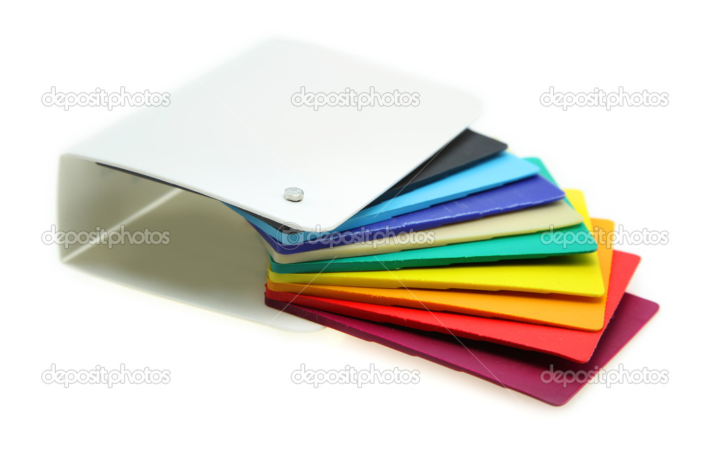Different plastic material samples on white background — Stock Photo #8339223