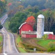 Scenic drive in Michigan — Stock Photo