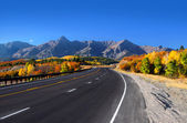 Scenic drive San Juan mountains — Stock Photo