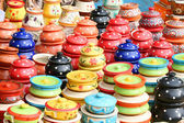 Colorful clay pots — Stock Photo