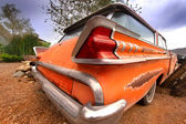 Rustic car tail end — Stock Photo
