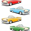 Classic car set — Stock Photo