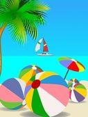 Piłki plażowe — Zdjęcie stockowe