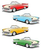 Classic car set — Foto de Stock