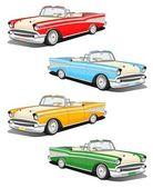 Classic car set — Stock Photo