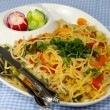 Indian style noodles — Stock Photo