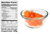 Nutritional facts of Carrots — Stock Photo