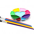 Royalty-Free Stock Photo: Paint brushes and colors