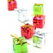 Miniature gift boxes — Stock Photo