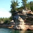 Stock Photo: BATTLE SHIP PICTURED ROCKS