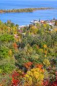 Copper Harbor Aerial View — Stock Photo