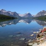 Swift current lake — Stock Photo #8766135