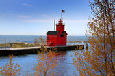 Holland Michigan light house — Stock Photo