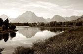 Grand Tetons mountain range — Stock Photo