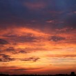 Sun set and clouds — Stock Photo