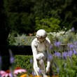 Stock Photo: Statue In Flower Garden