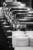 Buffet trays — Stock Photo