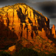 Grey clouds over red rock mountains — Stock Photo #9011120