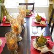 Dining table set up - Stock Photo