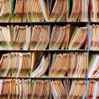 Medical record files in the shelf — 图库照片