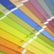 Many Bright Colored Paint Spec Swatches — Stock Photo