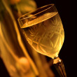 Champaign glass on the table — Stock Photo