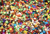 Shiny assorted stones — Stock Photo