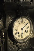 Metallic antique clock — Stock Photo