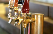 Shiny Brewary Tap — Stock Photo