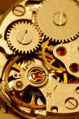 Antique watch mechanism — Stock Photo