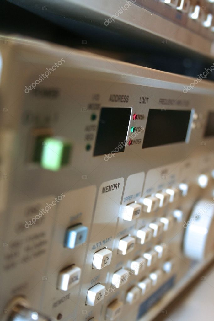 Controls on Electronic Equipment   Stock Photo #9105249